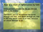 hope as a result of righteousness by faith64