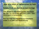 hope as a result of righteousness by faith7