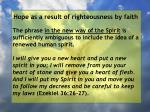 hope as a result of righteousness by faith74