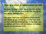 hope as a result of righteousness by faith79