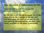 hope as a result of righteousness by faith9