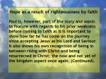 hope as a result of righteousness by faith91