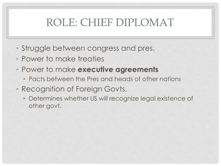Role: Chief Diplomat