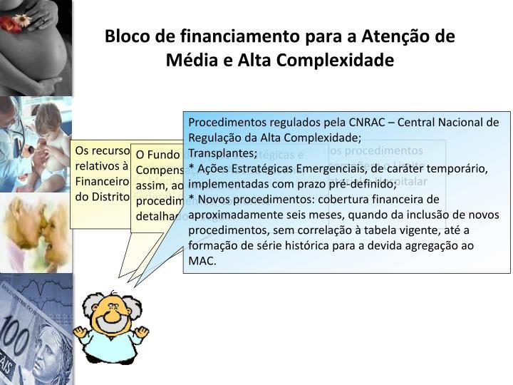 Bloco de financiamento para a Atenção de Média e Alta Complexidade