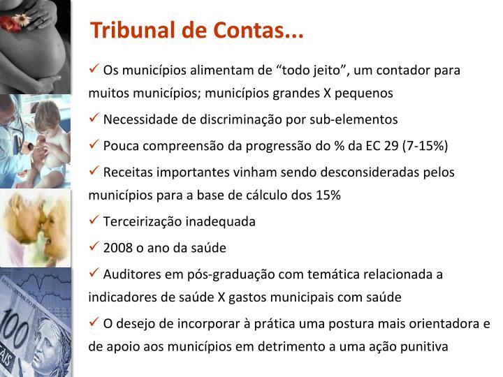 Tribunal de Contas...