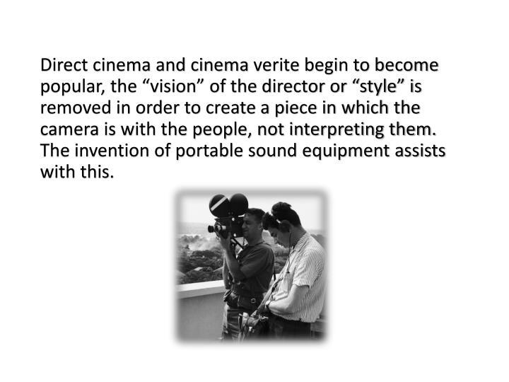 Direct cinema and cinema