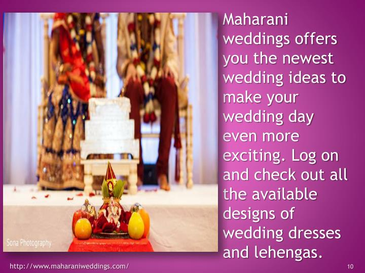 Maharani weddings offers