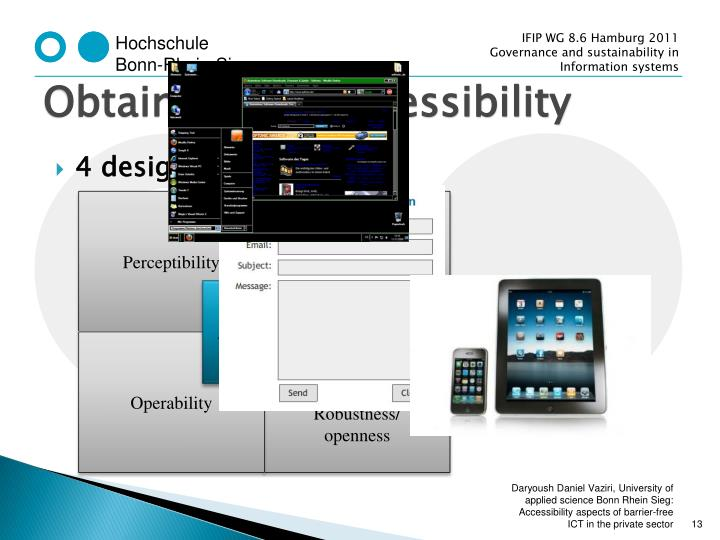Obtaining ICT accessibility