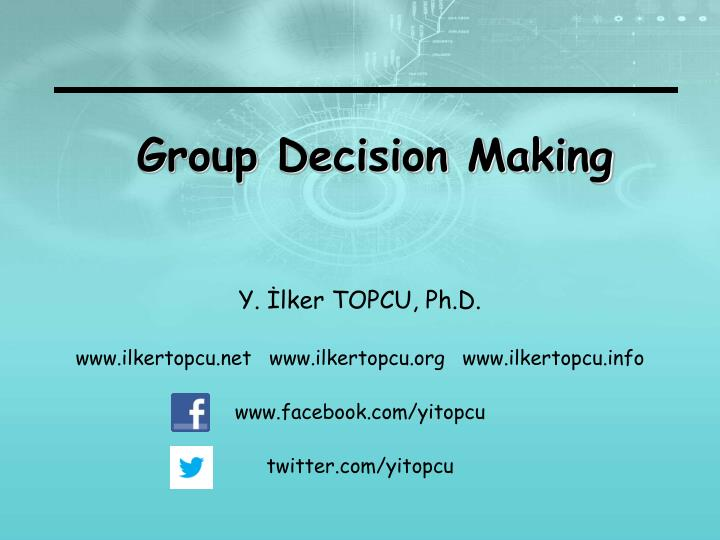group decision making Advantages of group decision making include the following: greater sum total of knowledge, greater number of approaches to the problem, greater number of alternatives, increased acceptance of a decision, and better comprehension of a problem and decision.