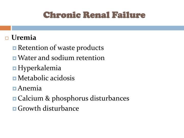 Chronic Renal Failure