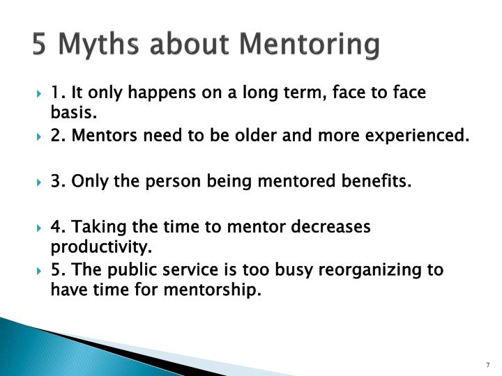 5 Myths about Mentoring