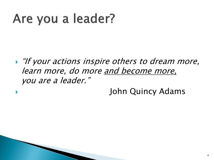 Are you a leader?
