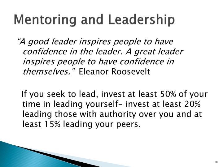 Mentoring and Leadership