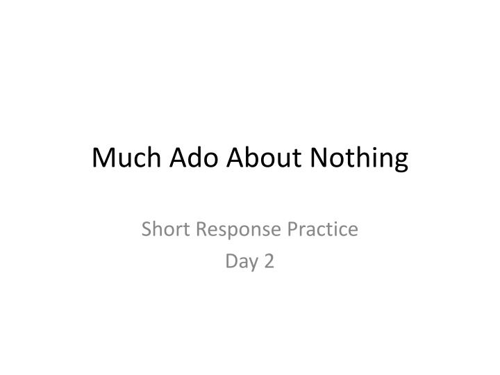 a review of the play much ado about nothing