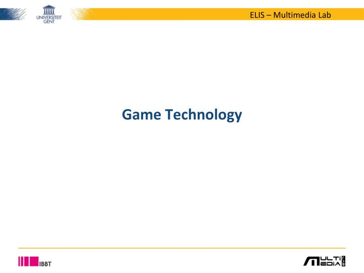game technology n.