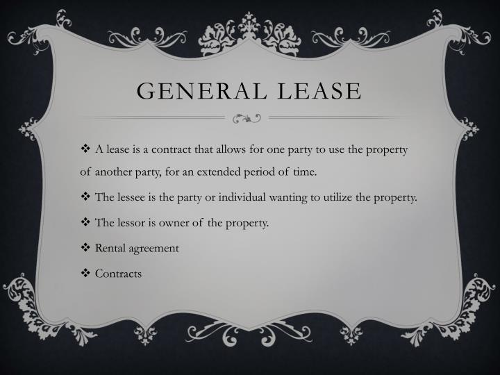 General lease