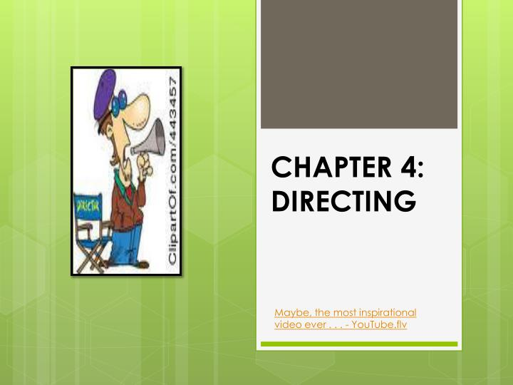 chapter 4 directing n.