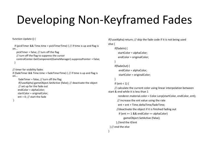 Developing Non-