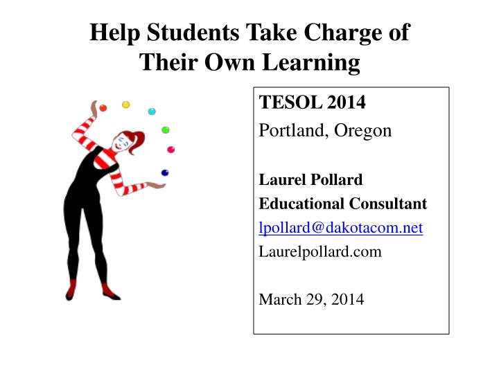 Help students take charge of their own learning