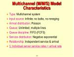 multichannel m m s model characteristics