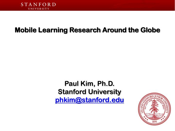 mobile learning research around the globe n.