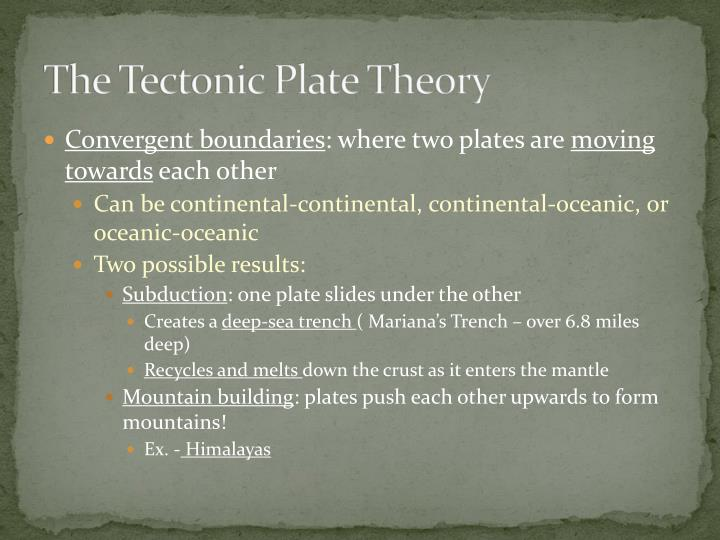 The Tectonic Plate Theory