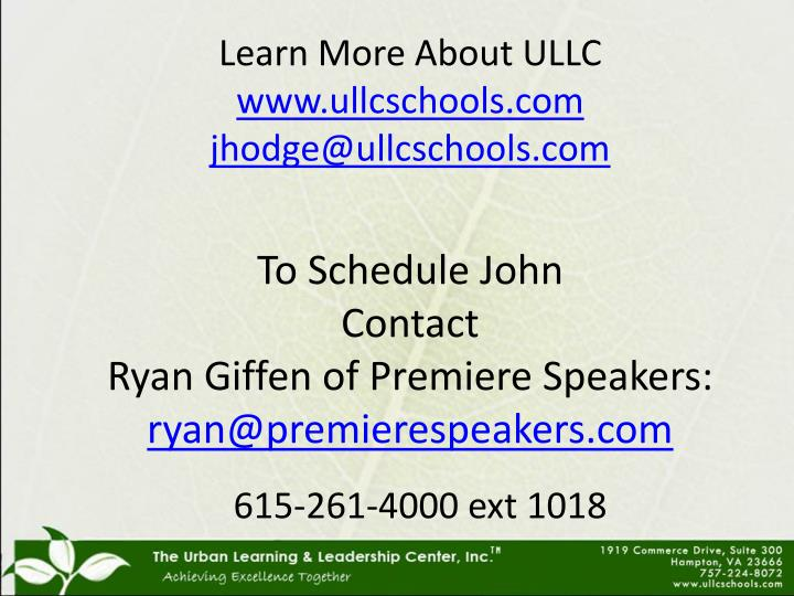 Learn More About ULLC