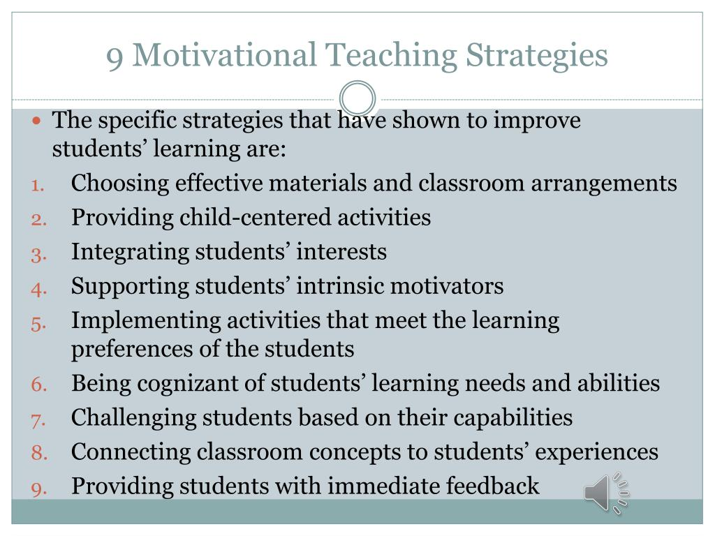 What Should Teachers Do To Motivate Students To Learn
