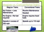 maglev vs conventional trains