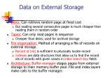 data on external storage