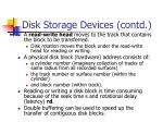 disk storage devices contd1