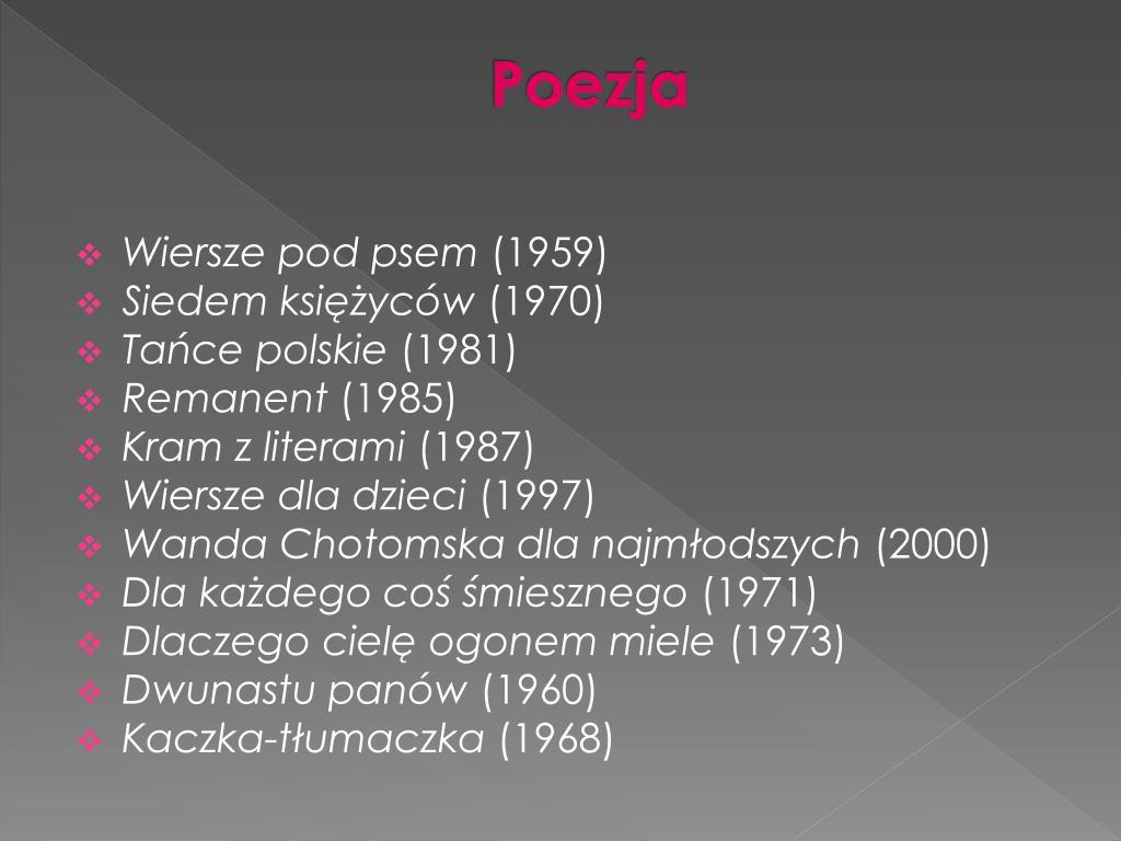 Ppt Wanda Chotomska Powerpoint Presentation Free Download