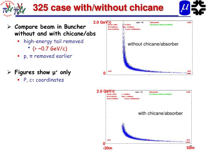 325 case with/without chicane