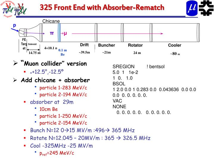 325 Front End with Absorber-Rematch