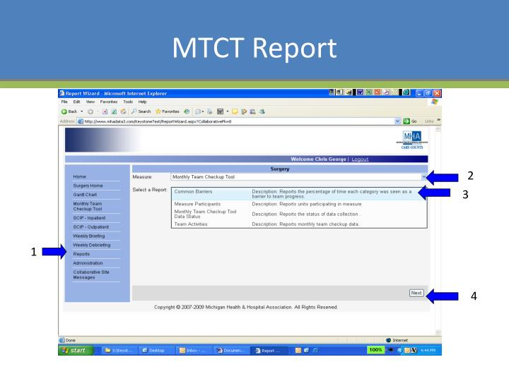 MTCT Report
