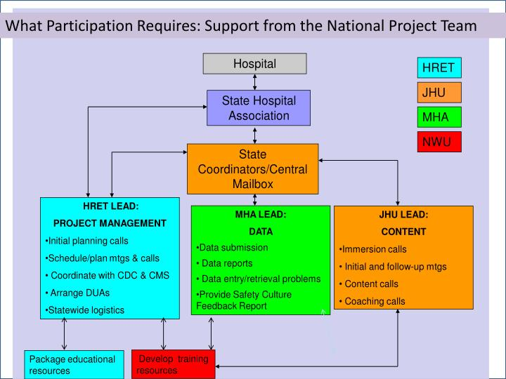 What Participation Requires: Support from the National Project Team