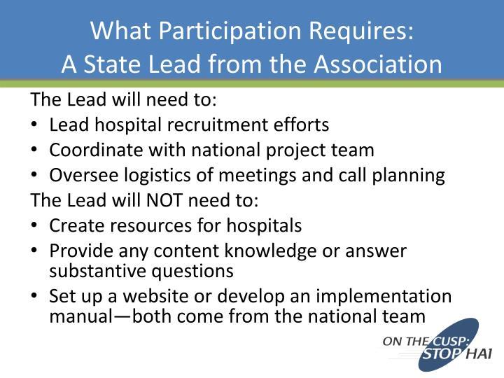 What Participation Requires: