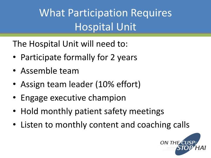 What Participation Requires