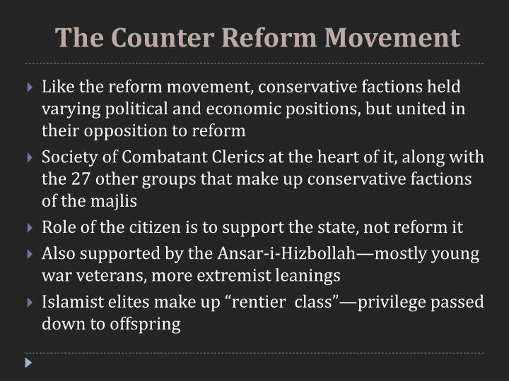 The Counter Reform Movement