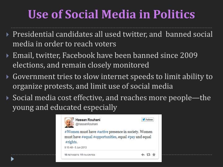 Use of Social Media in Politics