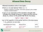 allowed beta decay