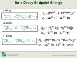 beta decay endpoint energy