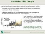 correlated 84 mo decays