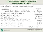 low counting statistics and the likelihood function