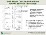 shell model calculations with the gxpf1 effective interaction