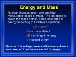 energy and mass