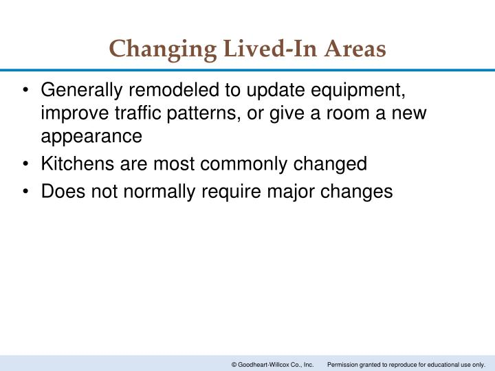 Changing Lived-In Areas