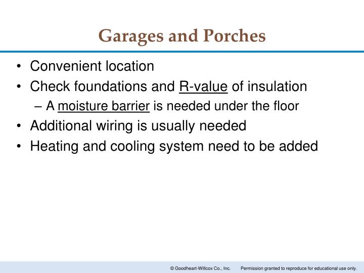 Garages and Porches