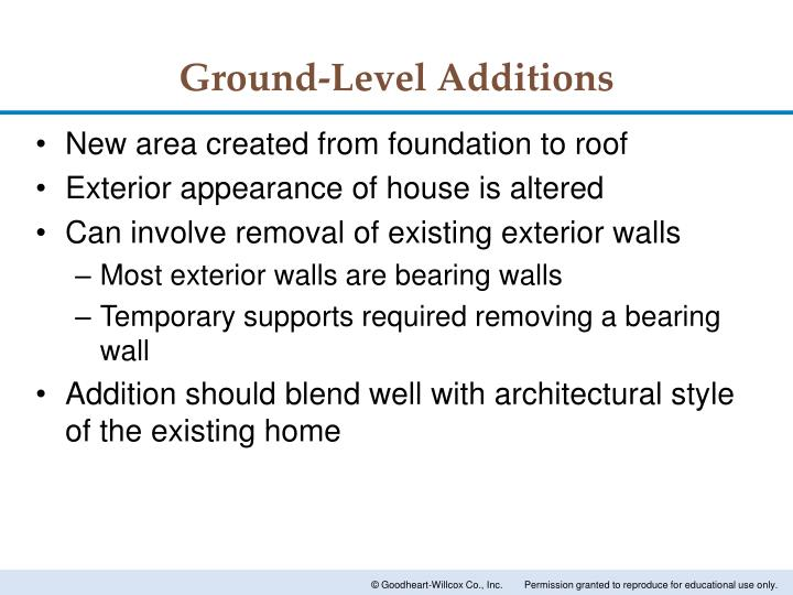 Ground-Level Additions