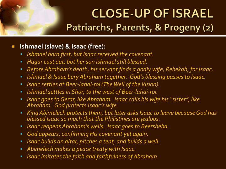 CLOSE-UP OF ISRAEL